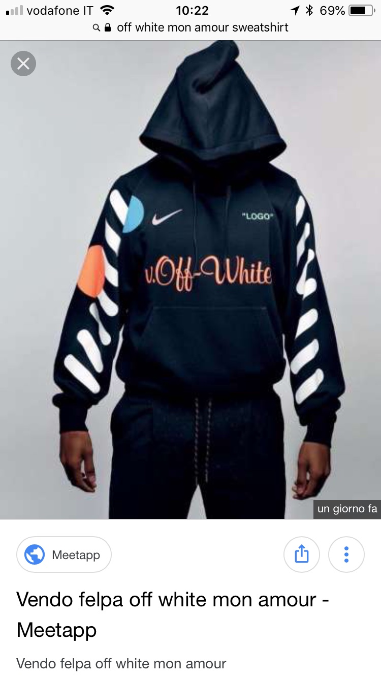 felpa off white nike