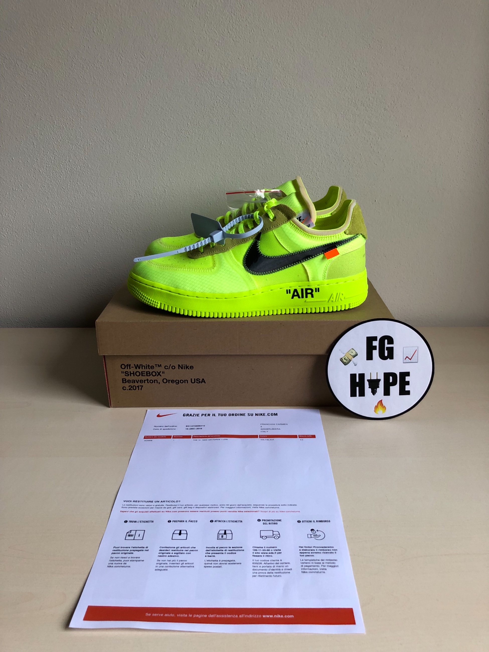 Nike Air Force 1 Low Off White Volt Meetapp