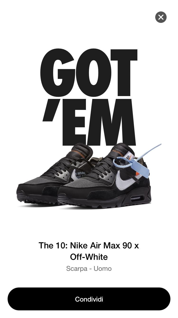air max 90 per off white nere
