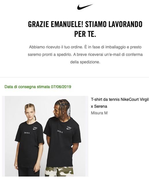 NikeCourt Virgil x Serena Tee Off White