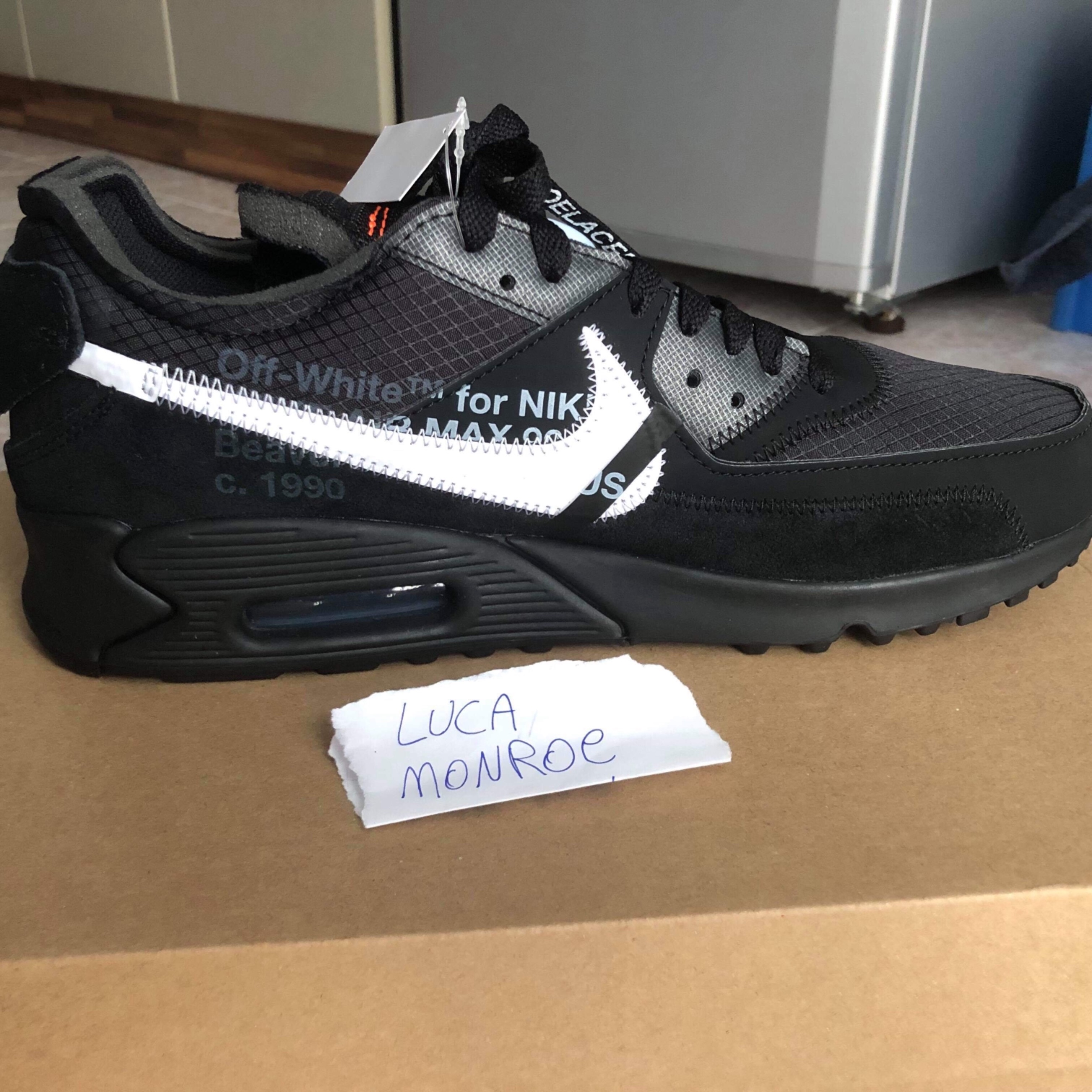 Legit check Nike air max 90 x Off White black Meetapp