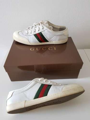 Scarpe Gucci Bianco Pelle 40  41 - Meetapp 97c888b8514c