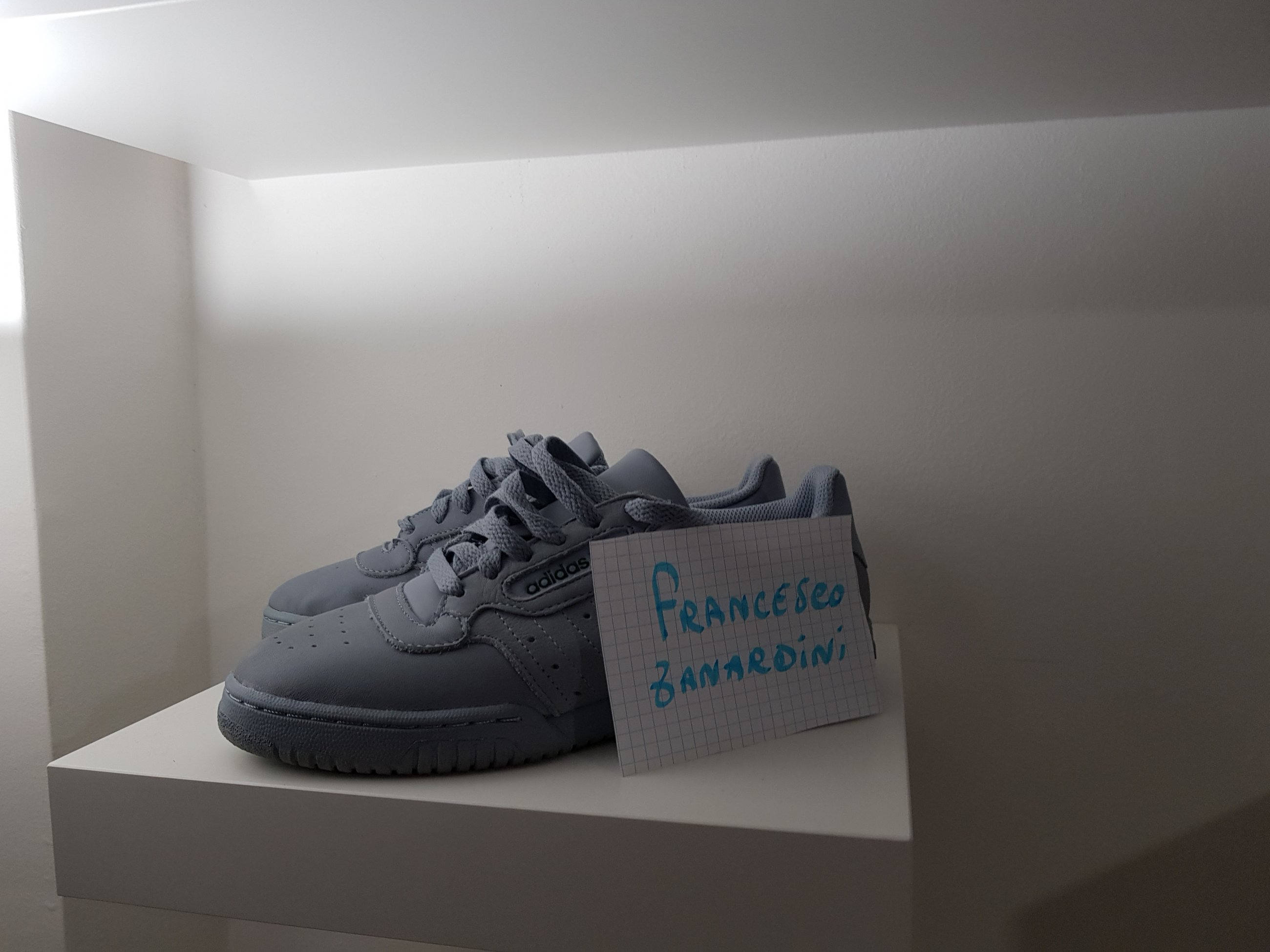 wholesale dealer 151ba d2d12 Yeezy calabasas powerphase grey