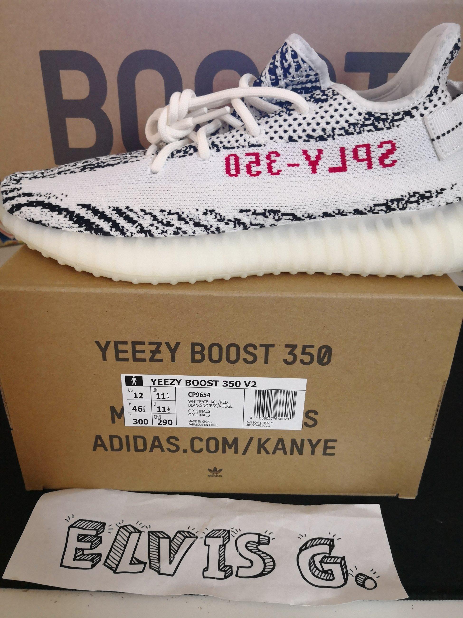 Adidas Yeezy Boost 350 V2 CP9654 Zebra US12 UK11.5